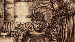 Loren Lannister dobla la rodilla ante Aegon I Targaryen