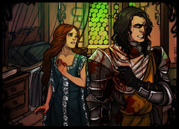Sansa and The Hound by Enife©
