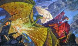 Los Tres Dragones by Chris Burdett, FFG©