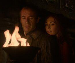 Melisandre y Stannis HBO