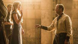 Daenerys expulsa a Jorah HBO