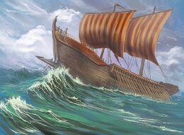 Sell Sail Galley by Dimitri Bielak, Fantasy Flight Games©