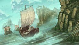Dagger lake by Dimitri Bielak, Fantasy Flight Games©