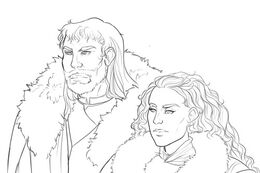 Torrhen Stark and Daughter by Rae Lavergne©