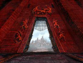 Puerta del Dragón by Franz Miklis, Fantasy Flight Games©