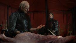 Tywin y Jaime HBO