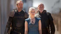 Jorah, Daenerys y Arstan HBO