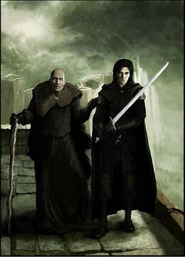 Maestre Aemon y Jon Nieve by Marc Simonetti©