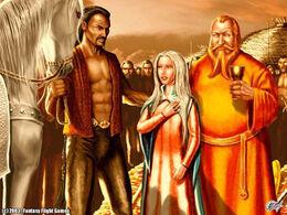 Drogo gives The Silver to Daenerys by Amoka©