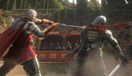 El príncipe Aemon derrotando a Ser Morgil Hastwyck