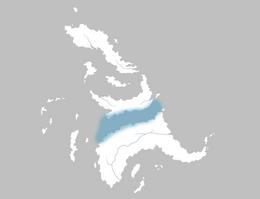 Mapa Estrecho índigo