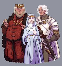 Aegon IV, Naerys and Aemon Targaryen by Naomi©