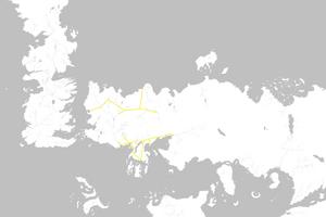 Mapa Carreteras Valyrias