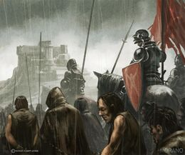 Prisioners marching to the Dreadfort by Tomasz Jedruzek, Fantasy Flight Games©