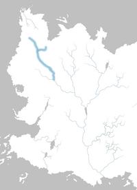 Mapa río Alto Rhoyne