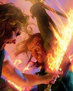 Sandor Clegane versus Beric Dondarrion by Michael Komarck, Fantasy Flight Games©