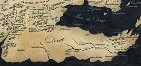 Mapa Dorne