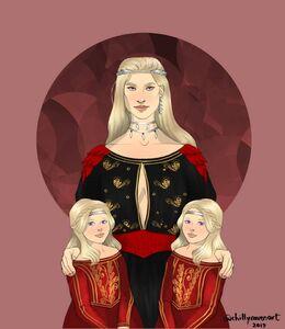 Rhaena, Aerea y Rhaella by Chillyravenart©