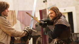 Duelo entre Jaime Lannister y Ned Stark