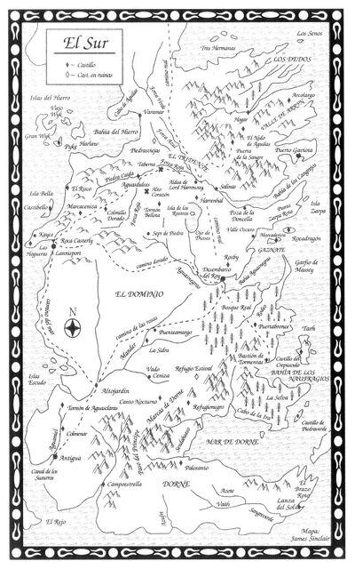 Mapa El Sur TdE