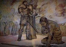 Petyr derrotado por Brandon HBO