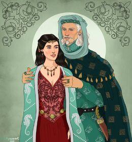 Rhaenys Targaryen and Corlys Velaryon by Chillyravenart©