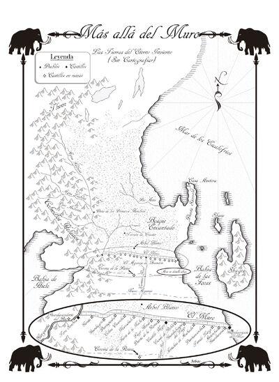 Mapa Más allá del Muro Danza de Dragones