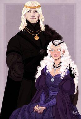 Aegon III Targaryen and Daenaera Velaryon by Naomi©