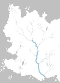 Mapa río Rhoyne