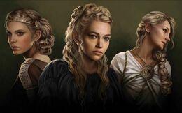 Elaena, Rhaena, and Daena Targaryen by Magali Villeneuve©