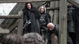 Jon ejecuta a Janos Slynt HBO
