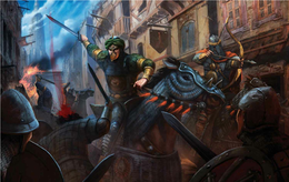 Dornish reavers in Oldtown by John McCambridge©