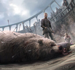 Jaime Lannister and Brienne of Tarth by Joshua Cairós, Fantasy Flight Games©
