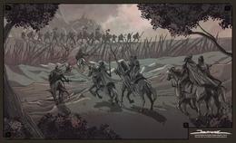 Ser Artys y los Ándalos luchan contra los Primeros Hombres del Valle HBO