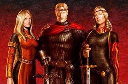 Rhaenys, Aegon y Visenya Targaryen by Amoka©