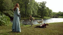 Arya confronta a Joffrey HBO