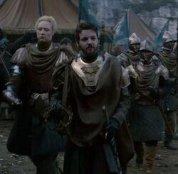 Rey Renly con la Guardia Arcoiris HBO