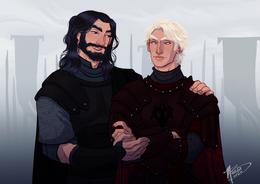 Aegon I Targaryen and Orys Baratheon by Naomi©