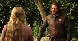 Eddard advierte a Cersei HBO