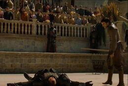 Oberyn tumba a la Montaña HBO