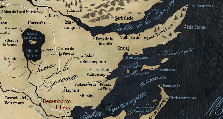 Desembarco Del Rey Mapa.Tierras De La Corona Hielo Y Fuego Wiki Fandom