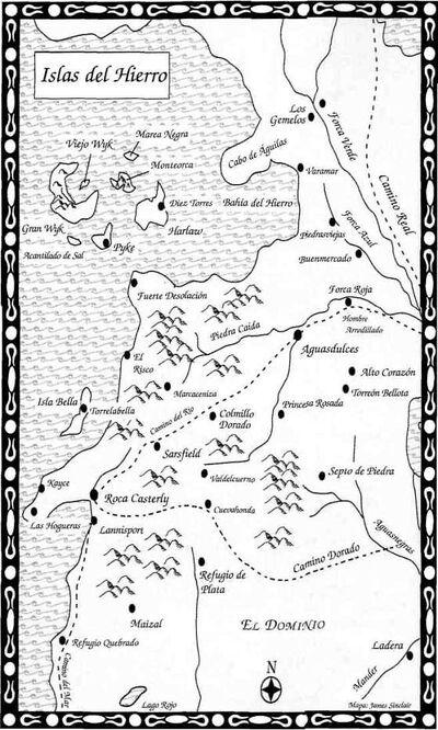 Mapa Islas del Hierro Festín de Cuervos