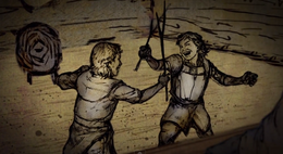 Jon y Robb jovenes HBO