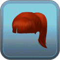 HIGH PONYTAIL (RED)