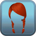 BRAIDED LOW PIGTAILS (RED)