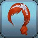 FANCY SIDE PONYTAIL HEADBAND (RED)