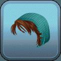 FEMALE SHORT HAIR BEANIE (BROWN)