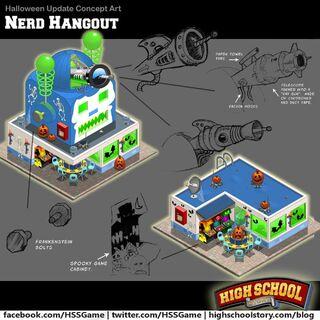 Halloween Nerd Hangout sketches