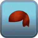 FRINGED SLICKED SIDE-PART (RED)