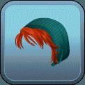 FEMALE SHORT HAIR BEANIE (RED)